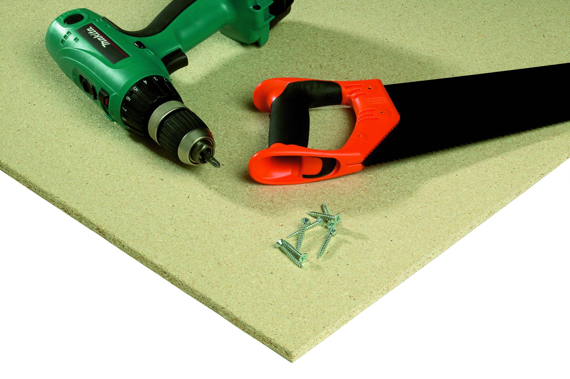 KoskiWall pinnoittamaton pohjamaalattu lastulevy seinärakenteisiin, sisäkatteisiin, vesikatteen aluslevy.