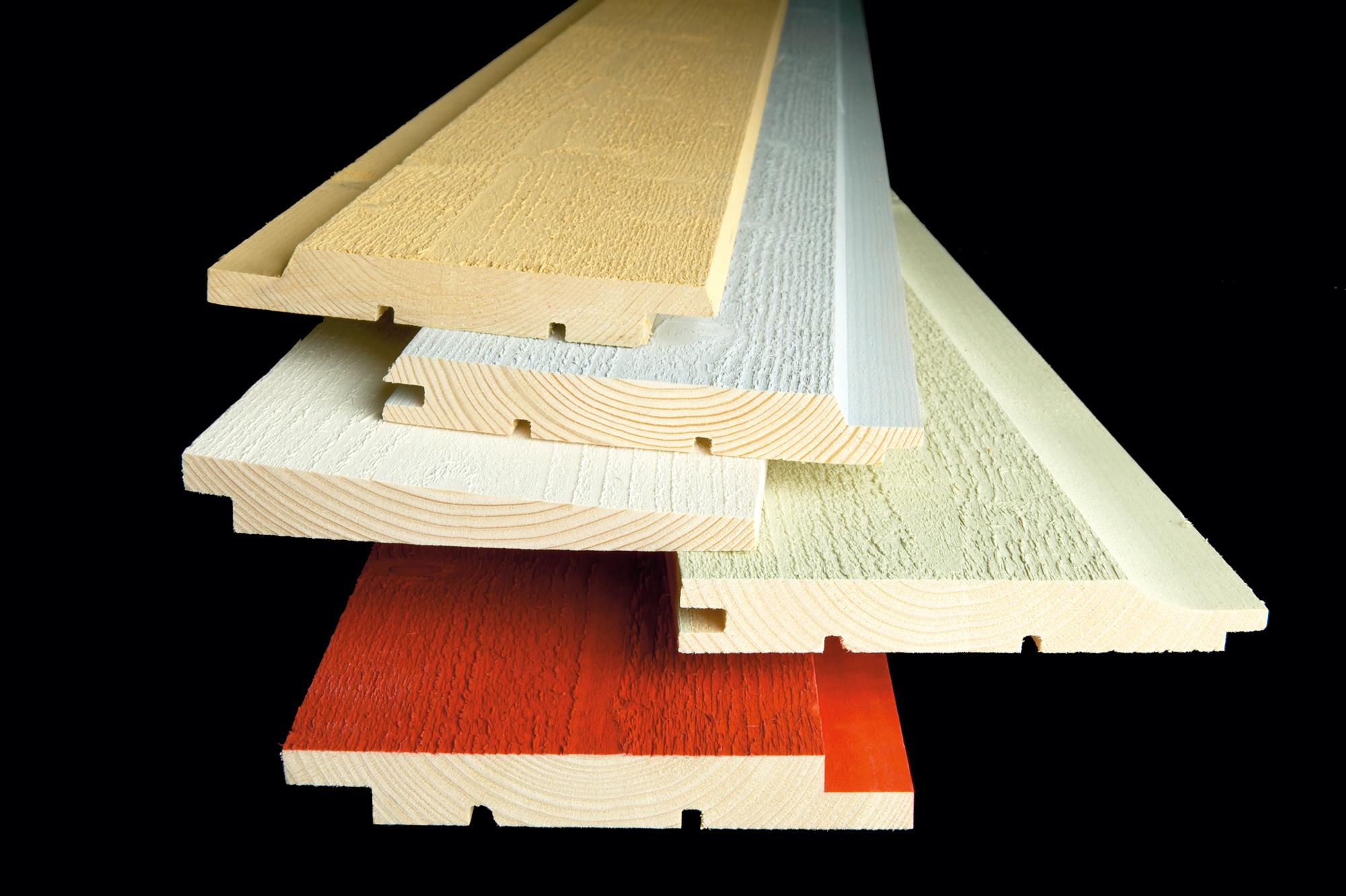 Exterior cladding panels with ecological and water-soluble paints